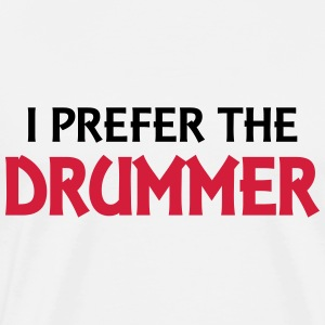 I prefer the drummer Manga larga - Camiseta premium hombre