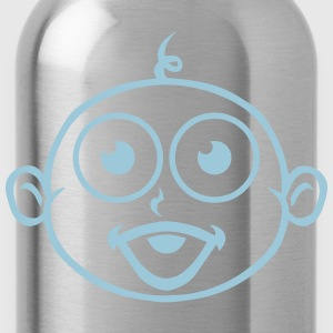 Baby boy head drawing 23092 T-Shirts - Water Bottle