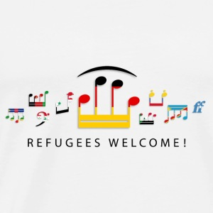 music_notes__refugees_welcome03 Baby Lätzchen - Männer Premium T-Shirt