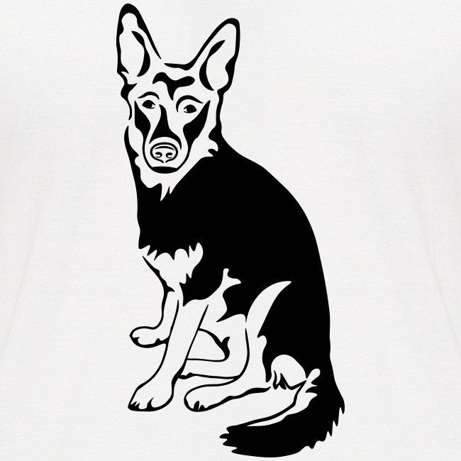 Schäferhund sitzend