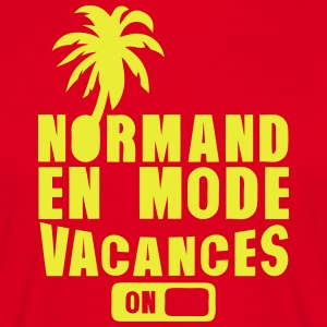 normand en mode vacance palmier on Tabliers - T-shirt Homme