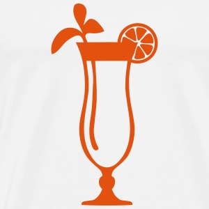 Cocktail glass drink icon 1809 Hoodies & Sweatshirts - Men's Premium T-Shirt