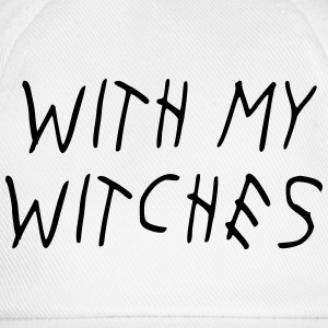 WITH MY WITCHES T-shirts - Basebollkeps