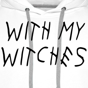WITH MY WITCHES Tee shirts - Sweat-shirt à capuche Premium pour hommes
