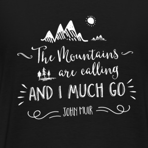 Sort/rød mountain quote Sweatshirts - Herre premium T-shirt