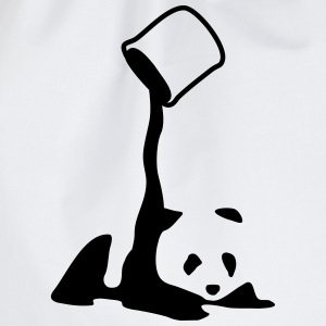 Panda, panda bear art, artist, colour Hoodies & Sweatshirts - Drawstring Bag