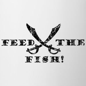 Feed the Fish - Pirate Quote Vintage Black T-Shirts - Mug