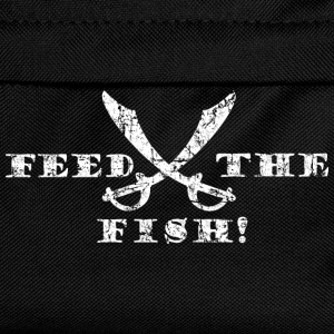 Feed the Fish - Pirate Quote Vintage White Shirts - Kids' Backpack