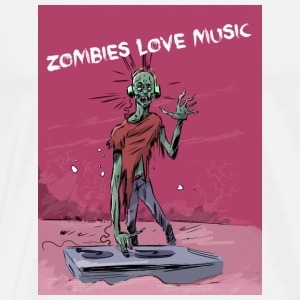 Zombies love music - T-shirt Premium Homme