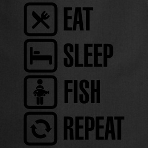 Eat -  sleep - fish - repeat Tee shirts - Tablier de cuisine