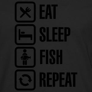 Eat -  sleep - fish - repeat Tee shirts - T-shirt manches longues Premium Homme