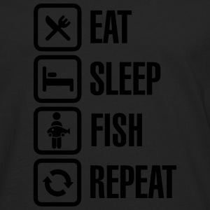 Eat -  sleep - fish - repeat Sweat-shirts - T-shirt manches longues Premium Homme