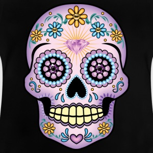 Purple Sugar Skull - Baby T-Shirt