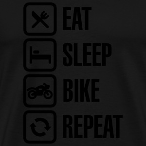 Eat - sleep - (motor)bike - repeat Gensere - Premium T-skjorte for menn