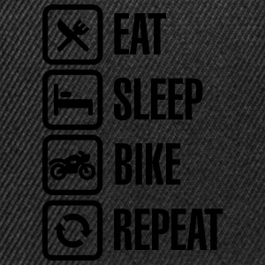 Eat - sleep - (motor)bike - repeat Gensere - Snapback-caps