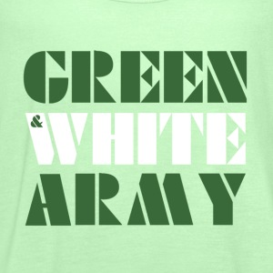 GREEN & WHITE ARMY _STENCIL_3 T-Shirts - Women's Tank Top by Bella