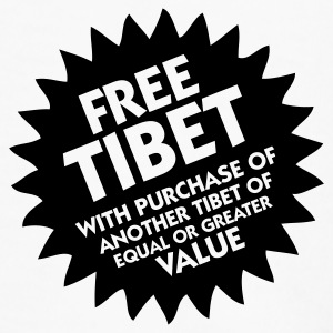 Free Tibet! Mugs & Drinkware - Men's Premium T-Shirt