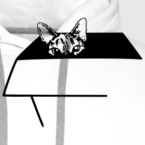 Cat in the Box T-shirts - Mannen Premium hoodie