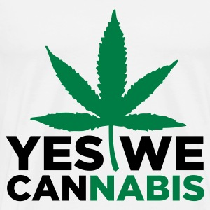Yes We Cannabis! Topper - Premium T-skjorte for menn