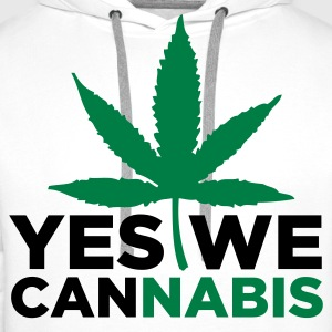 Yes We Cannabis! T-shirts - Mannen Premium hoodie
