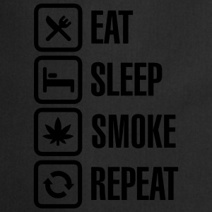 Eat - sleep - smoke - repeat Shirts met lange mouwen - Keukenschort