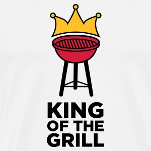 The King of the Grill Mugs & Drinkware - Men's Premium T-Shirt