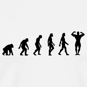 The Evolution of Bodybuilding Mugs & Drinkware - Men's Premium T-Shirt