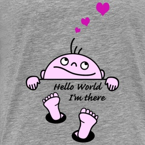 hello world Sweatshirts - Herre premium T-shirt