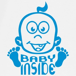 Baby inside boy head pregnant Tops - Men's Premium T-Shirt