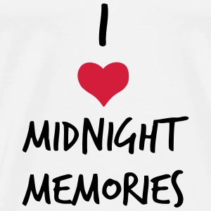 I LOVE MIDNIGHT MEMORIES Baby Bodysuits - Men's Premium T-Shirt