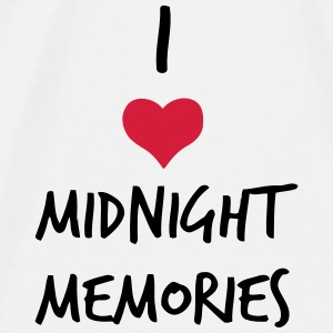 I LOVE MIDNIGHT MEMORIES Babyhaklapp - Premium-T-shirt herr