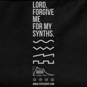 Lord Forgive Me For My Synths T-Shirts - Kids' Backpack