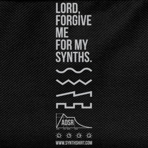 Lord Forgive Me For My Synths Hoodies & Sweatshirts - Kids' Backpack