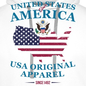 UNITED STATES OF AMERICA T-Shirts - Men's Premium Hoodie