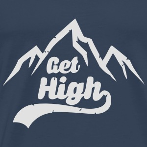 GET HIGH! Topper - Premium T-skjorte for menn