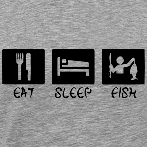 EAT - SLEEP - FISH Manches longues - T-shirt Premium Homme