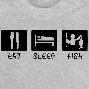 EAT - SLEEP - FISH Langarmede T-skjorter - Baby-T-skjorte