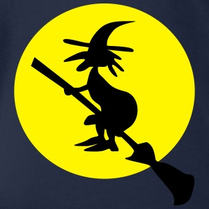 witch and full moon Tee shirts - Body bébé bio manches courtes