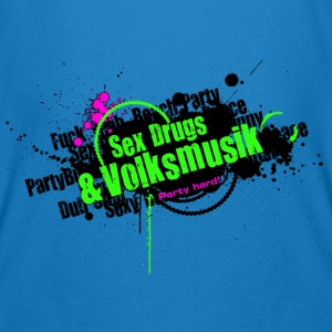 Sex Drugs & Volksmusik Party Hard Grunge Style - Männer Bio-T-Shirt