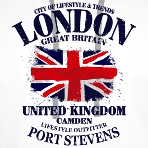 London - Union Jack Vintage Flag Tops - Männer Premium Hoodie