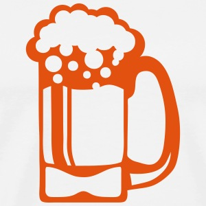 Beer glass alcohol foam 15093 Hoodies & Sweatshirts - Men's Premium T-Shirt
