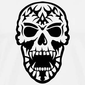 Skull Tribal head death 15097 Hoodies & Sweatshirts - Men's Premium T-Shirt