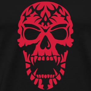 Skull Tribal head death 15098 Sports wear - Men's Premium T-Shirt