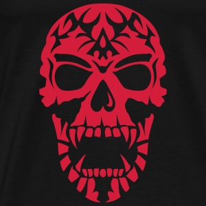 Skull Tribal head death 15098 Tops - Men's Premium T-Shirt