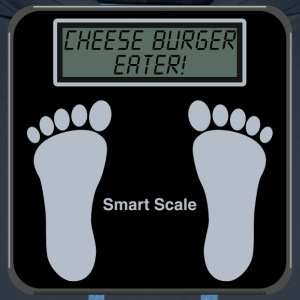 Smart Scales - Cheese burger T-Shirts - Men's Premium Hoodie