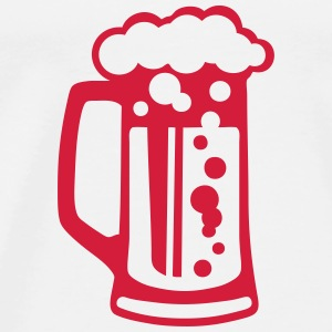 Beer glass alcohol foam 1509 Tops - Men's Premium T-Shirt