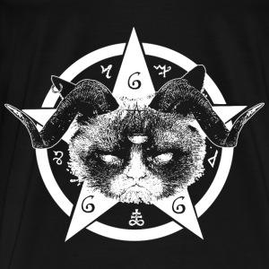 Grumpy Occult Cat Sweatshirts - Herre premium T-shirt