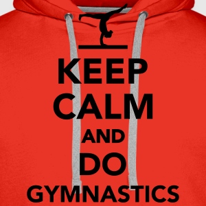 Keep calm and do gymnastics T-Shirts - Männer Premium Hoodie