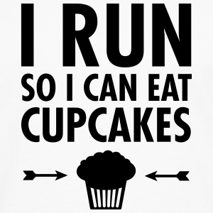 I Run So I Can Eat Cupcakes T-skjorter - Premium langermet T-skjorte for menn