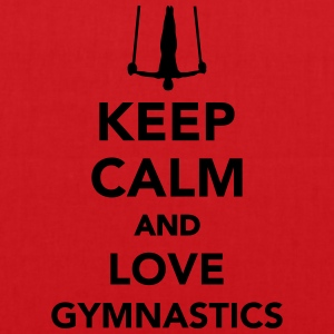 Keep calm and love gymnastics T-Shirts - Stoffbeutel